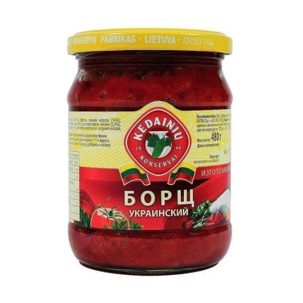 """Suppe """"Borsch Ukrainsk"""" Kedainiu, 480g"""