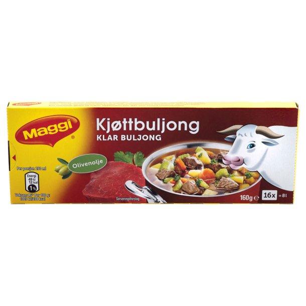 Maggi Klar kjøttbuljong Terninger, 8 l