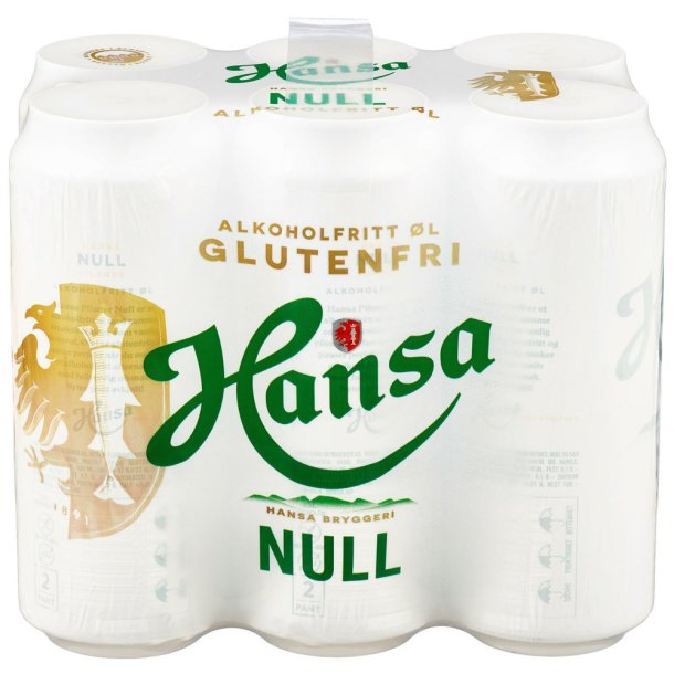 Hansa Null % Alkoholfri, Glutenfri, 3l (6x 0,5l)