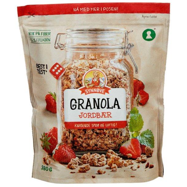 Granola Jordbær Synnøve, 380g