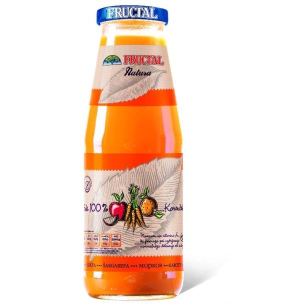 Gulrot 100% juice Fructal, 0,7l