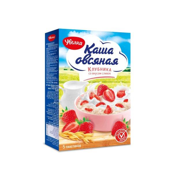 Havregrøt med jordbær Uvelka, 200g (5 x 40g)