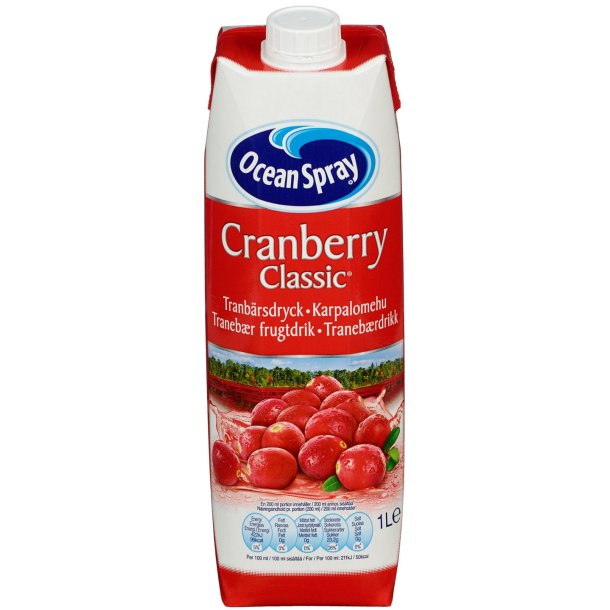 Tranebærjuice Classic Ocean Spray, 1l