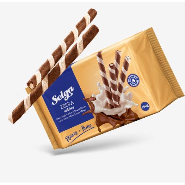 SELGA Vafelruller med Kakao Kremfyll, 160g