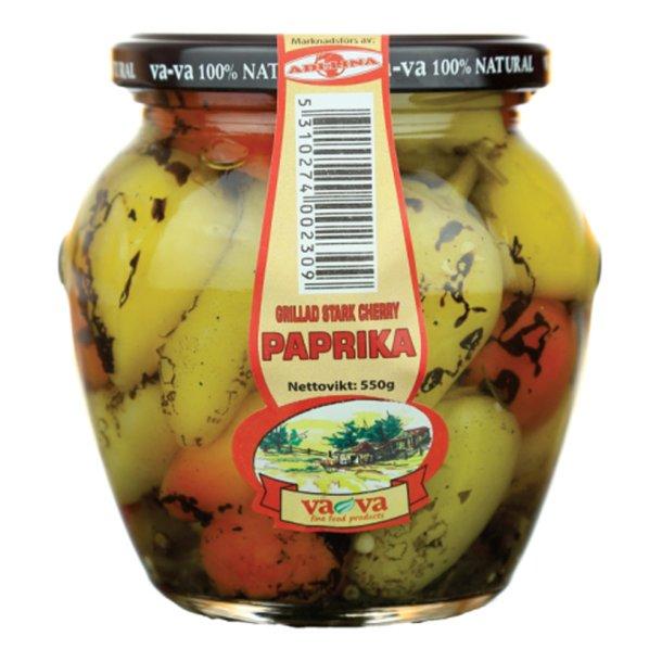 Paprika Grillet Sterk Cherry VAVA 100% Naturell, 550g