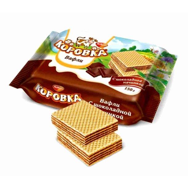 """Vafler """"Korovka"""" med sjokoladesmak, 150g"""