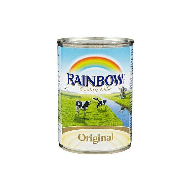Usøtet Kondensert melk med Vit. D Rainbow, 410g