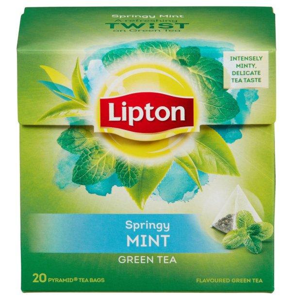 Lipton Green tea Mint, pyramide 20 pos