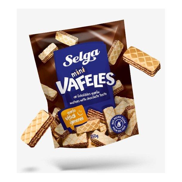 SELGA Mini Vafler med Sjokoladesmak, 250g