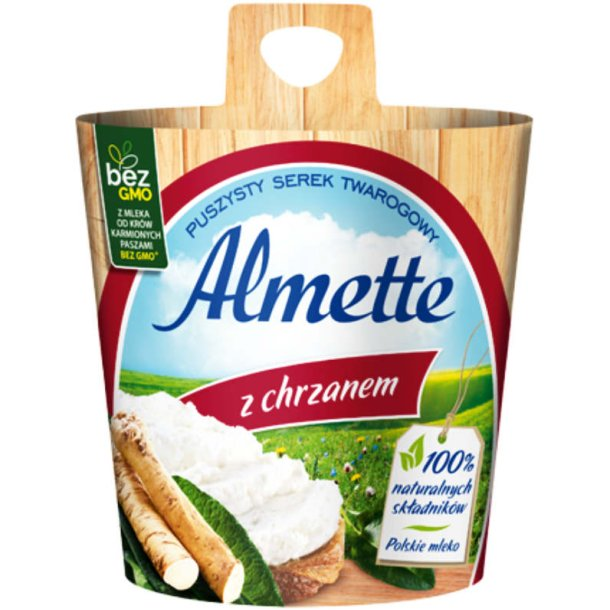 Almette med pepperrot luftig cottage cheese, 150 g