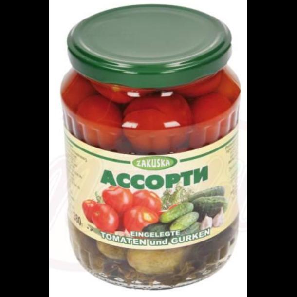 Assorti cherry tomat/ agurk Zakuska, 680g