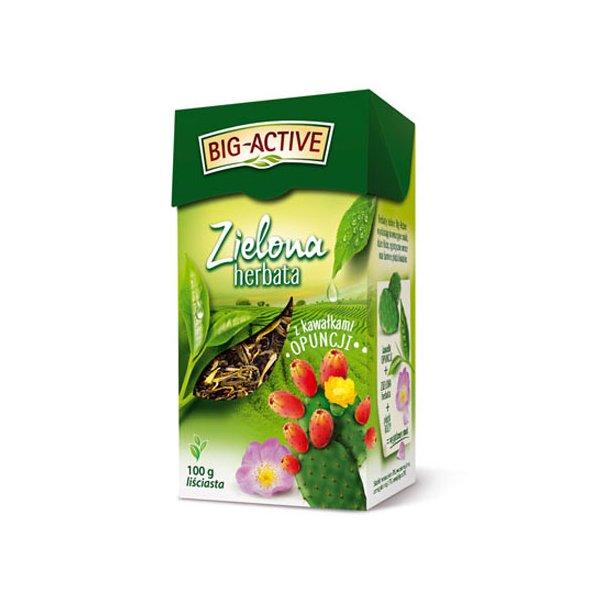 Grønn Te med Biter av Opuntia Løse Blad Big-Active, 100g