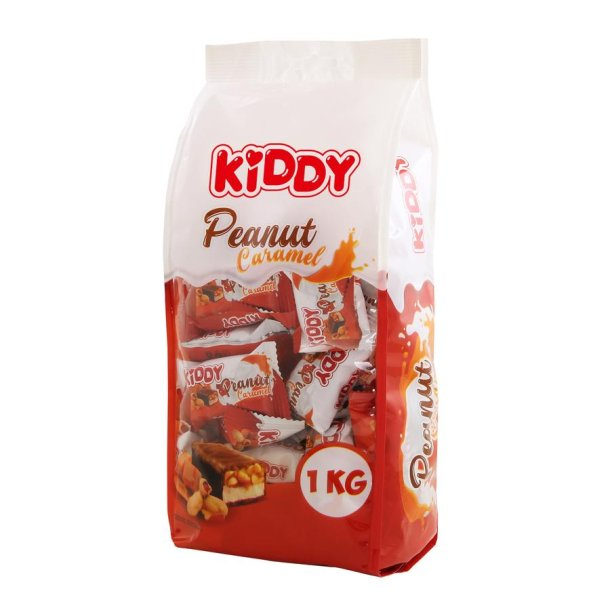 Konfekter med Sjokoladeglasur  KIDDY PEANUT CARAMEL, 1000g