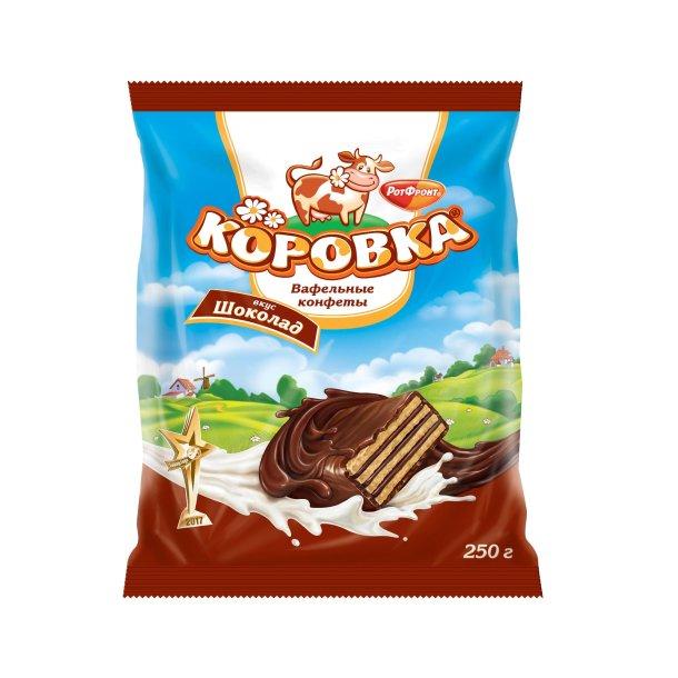 """Konfekter """"KOROVKA med sjokolade smak"""" RotFront, 250g"""