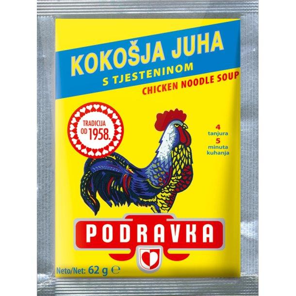 Kyllingsuppe med nudler Podravka, 62g