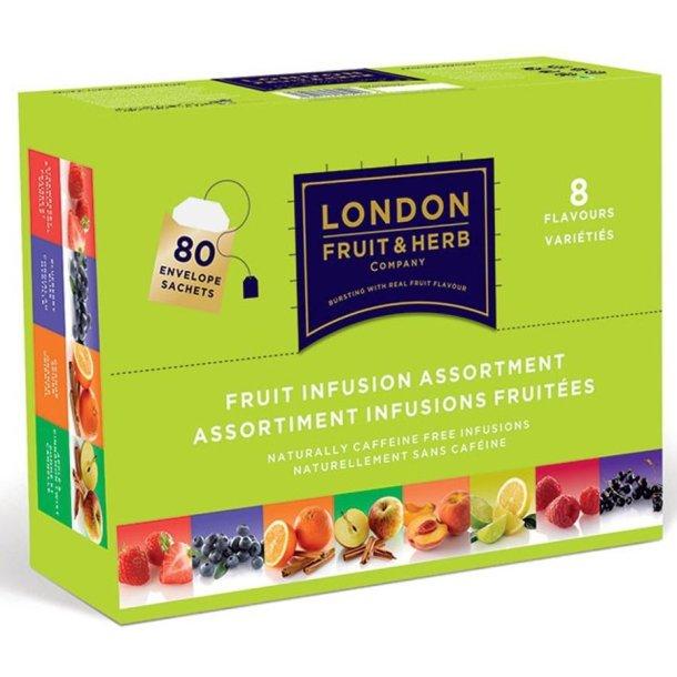 London Fruits & Herbs Fruit mixboks 8 sorter , 80 psr