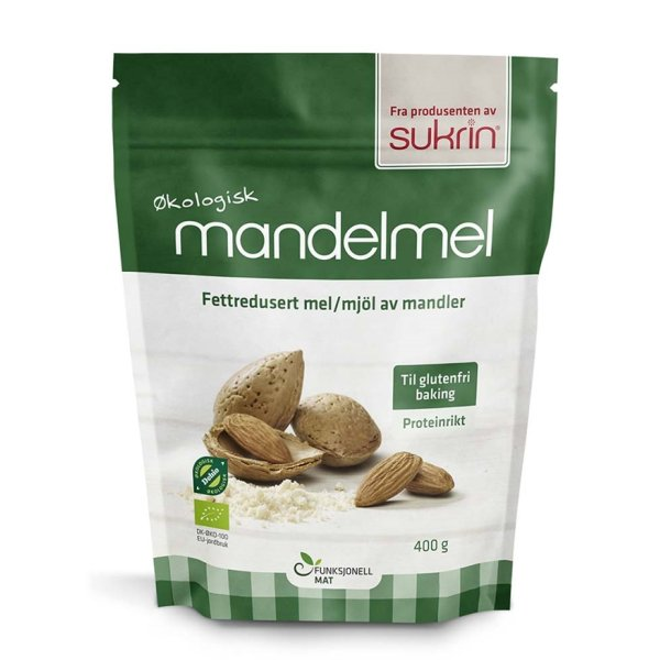 Mandelmel Øko, 400g