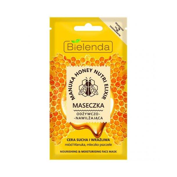 Manuka Honey Nutri Elixir, Nærende og Fuktighetsgivende Maske Bielenda, 8g