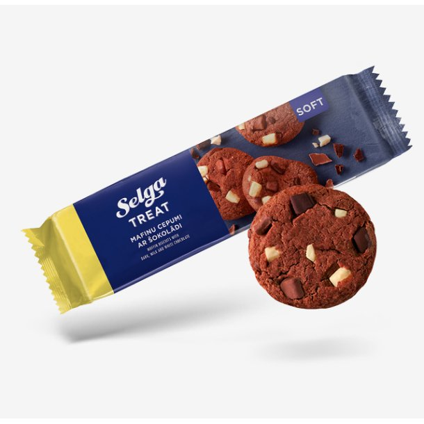 Muffinkjeks med sjokolade SELGA, 175g