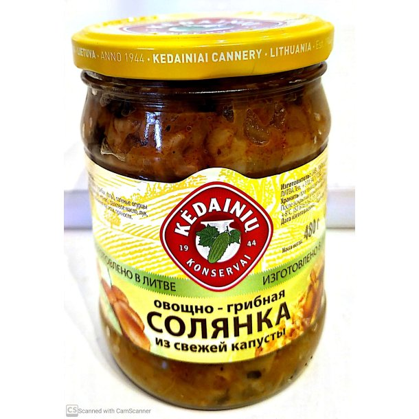 "Suppe ""Soljanka"" med sopp og kål Kedainiu, 480g"
