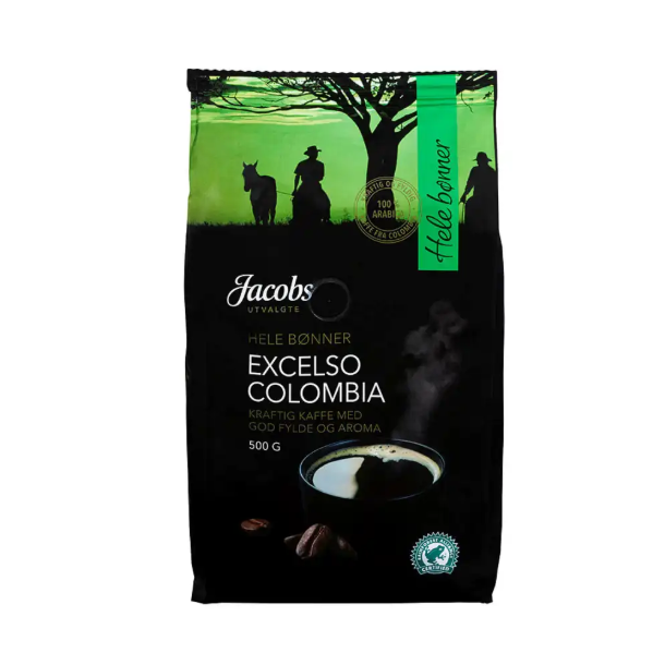 Jacobs Utvalgte Kaffe EXCELSO COLOMBIA hel 500g