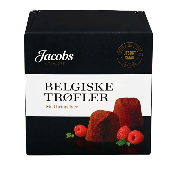 Jacobs Belgiske Trøfler med bringebær 200g