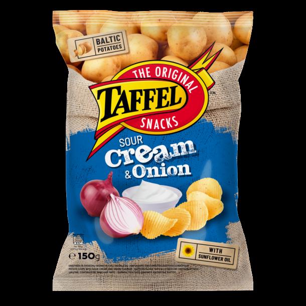 TAFFEL Chips Sour Cream & Onion, 150g