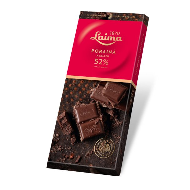 LAIMA luftig mørk sjokolade, 90g