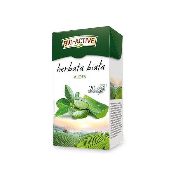 Hvit te med Aloe Big-Active, 30g (20x1,5g)