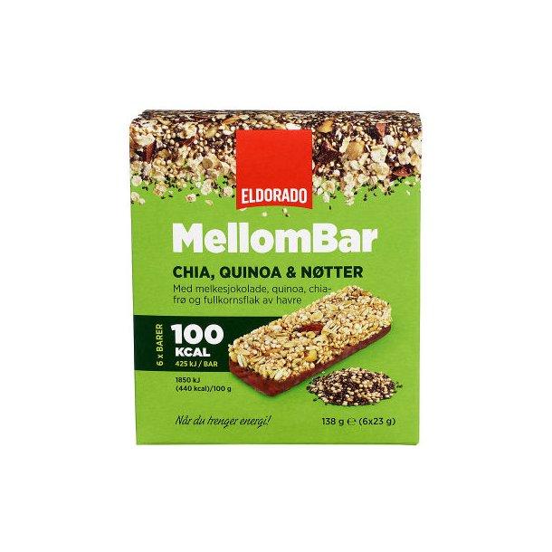 MELLOMBAR Chia, Quinoa&Nøtter 6pk Eldorado, 138g