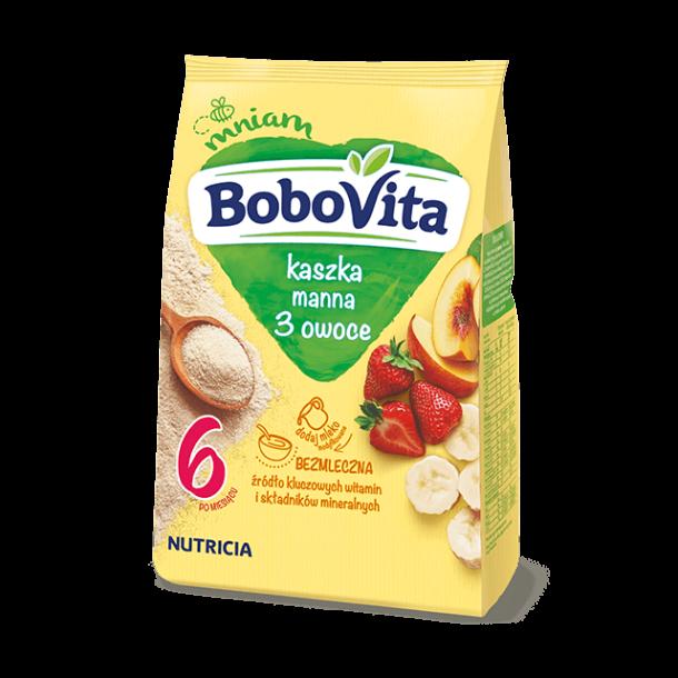 Semulegryn uten melk med 3 Frukt fra 6. mnd NUTRICIA, 180g