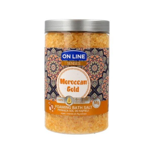"""Badesalt """"Moroccan Gold"""" med Naturlige oljer og Magnesium ON LINE , 480g"""