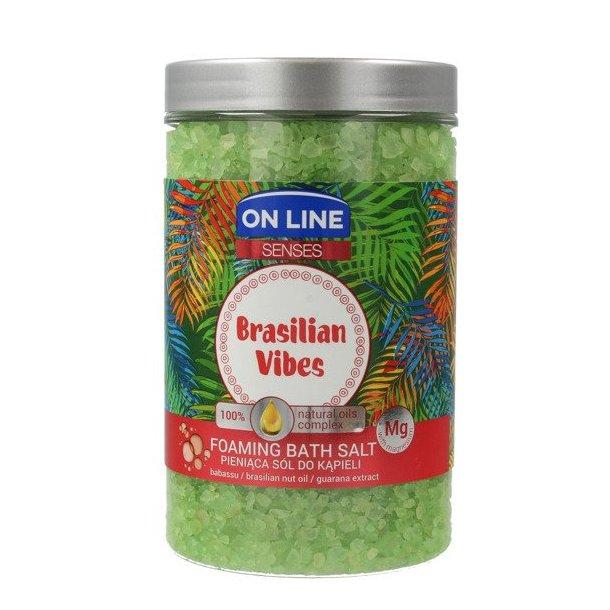 """Badesalt """"Brasilian Vibes"""" med Naturlige oljer og Magnesium ON LINE , 480g"""