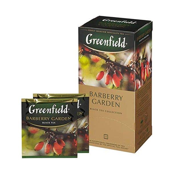 Barberry Garden Greenfield Svart Te, 25 puser x 2g