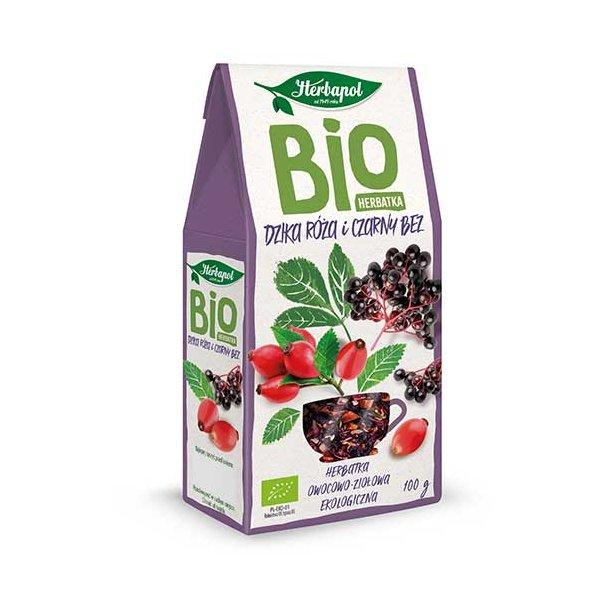 BIO Rosehip og Hyllebær Te Herbapol, 100g
