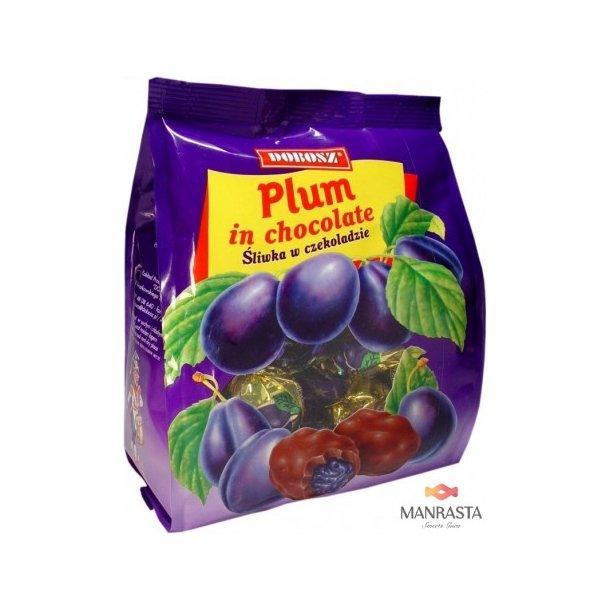 Plommer i sjokolade, 300g