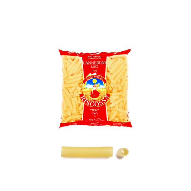 Riscossa pasta - Caneroni lisci, 500g
