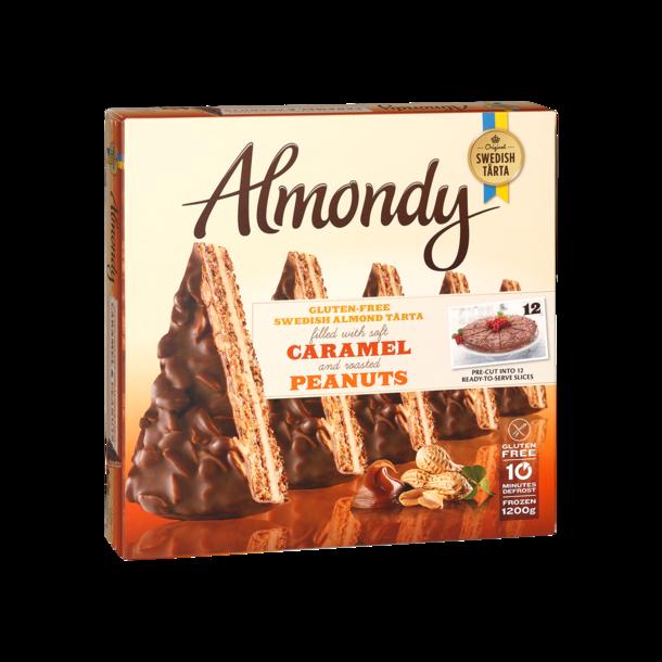 Almondy Mandelkake karamell og peanøtt, frossen 1200g