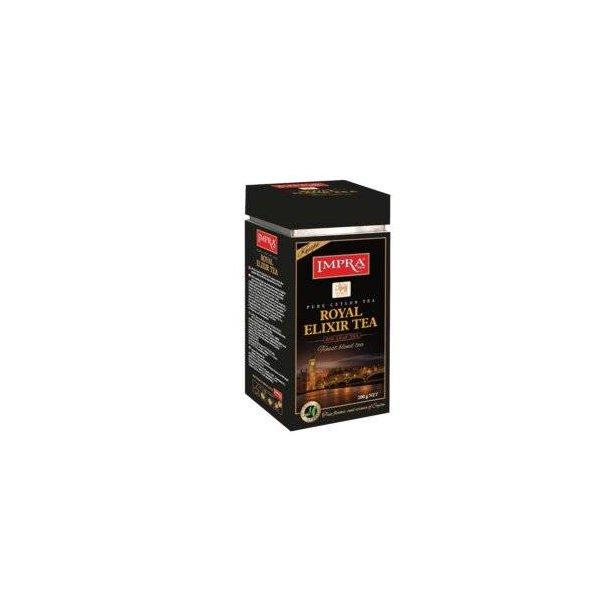 Ceylon Svart Te Royal Elixir Night IMPRA i metallboks, 200g