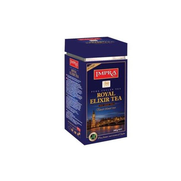Ceylon Svart Te Royal Elixir IMPRA i metallboks, 200g