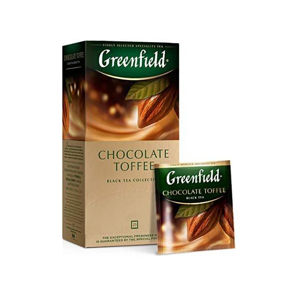 Chocolate Toffee Svart Te Greenfield, 25 puser x 1,5g