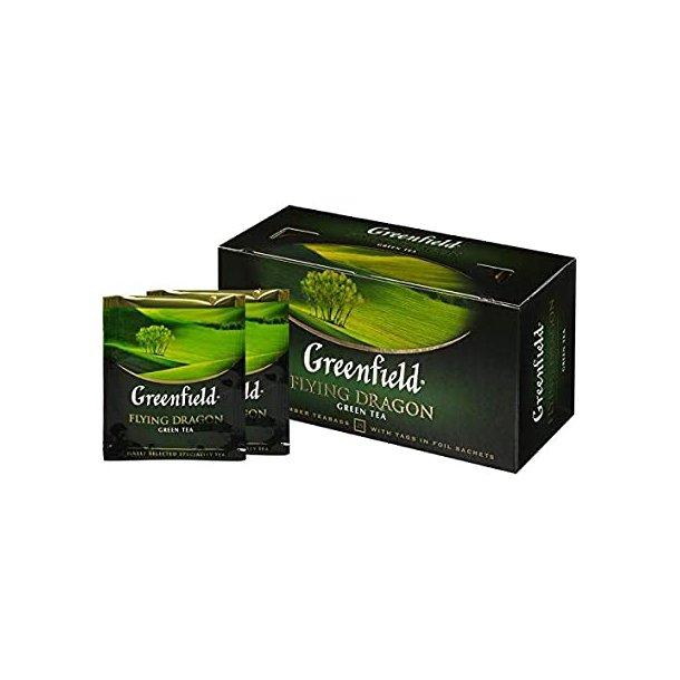 Flying Dragon Grønn Te Greenfield, 25 puser x 1,5g