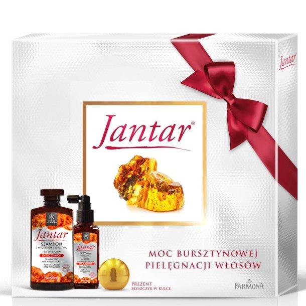 Gavesett for skadet hår (sjampo, lotion, lipgloss)  JANTAR Farmona