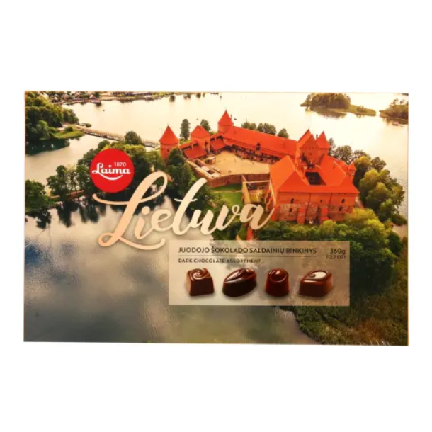 "Mørk sjøkolade konfekter ""Lietuva"" LAIMA, 360g"