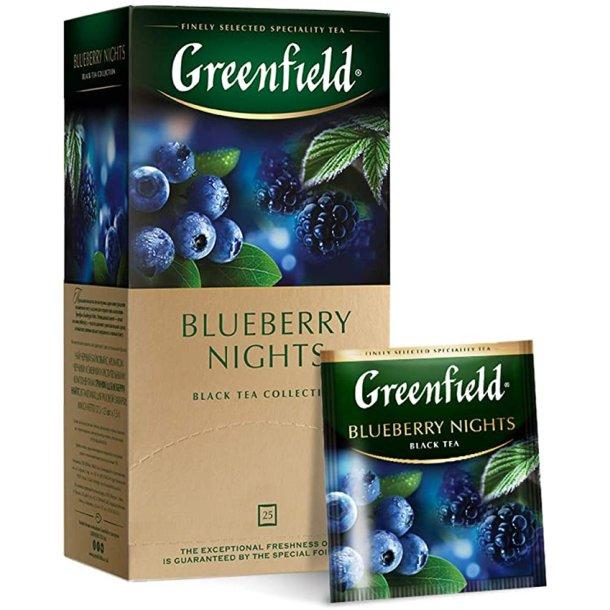 Blueberry Nights Greenfield Svart Te, 25 puser x 2g
