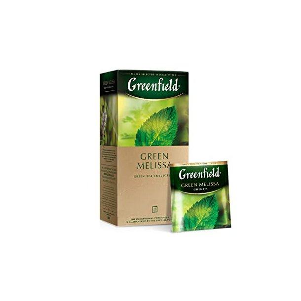 Green Melissa Grønn Te Greenfield, 25 puser x 1,5g