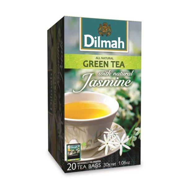 Grønn Te med Naturlig Jasmin DILMAH, 30g (20x1,5g)
