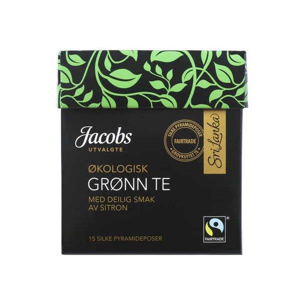 Grønn Te Økologisk med deilig smak av sitron Jacobs, 15 pos.