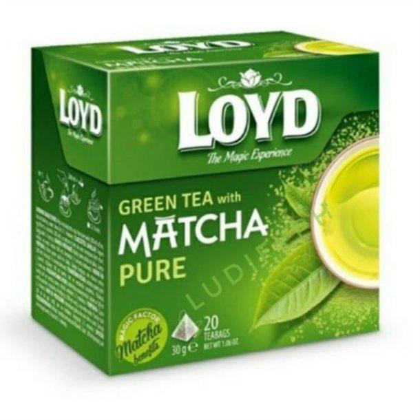 Grønn Te med MATCHA Pure LOYD, 20 puser x 1,5g