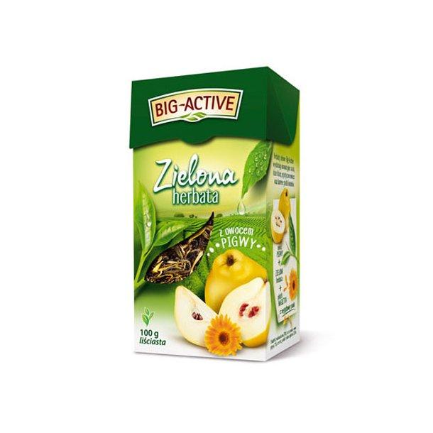 Grønn Te med Kvede Løse Blad Big-Active, 100g